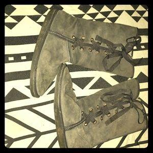 Grey emu tall boots